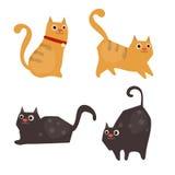 gullig set för katter stock illustrationer