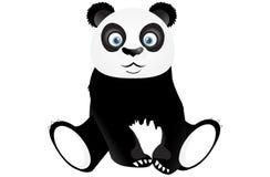 Gullig sittande panda Royaltyfri Foto