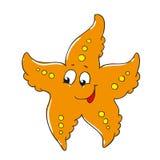 Gullig sjöstjärna för tecknad filmtecken Arkivbilder