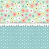 Gullig sjaskig chic blom- bakgrund för din garnering royaltyfri illustrationer