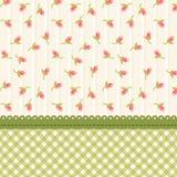Gullig sjaskig chic blom- bakgrund för din garnering stock illustrationer