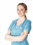 gullig sjuksköterska Arkivbild