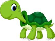 Gullig sköldpaddatecknad film Royaltyfria Bilder