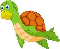 Gullig sköldpaddatecknad film Vektor Illustrationer