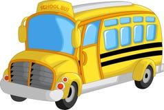 Gullig skolbusstecknad film stock illustrationer