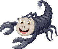 Gullig skorpiontecknad film Stock Illustrationer