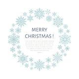 Gullig snöflingaaffisch, baner Vertikalt fotografi Plana snösymboler, snöfall Trevliga snöflingor för julbaner, kort nytt år royaltyfri illustrationer