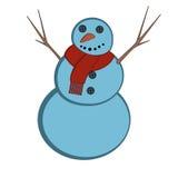 Gullig snögubbe för jul Arkivfoton