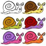 gullig snail för tecknad film Royaltyfri Bild