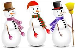 Gullig Snowman Royaltyfria Bilder