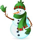 Gullig snowman Arkivbilder