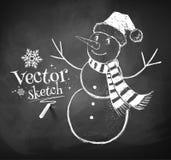 Gullig snowman Arkivfoton