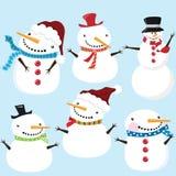 Gullig snowman Arkivbild