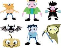 Gullig spöke i halloween  Stock Illustrationer