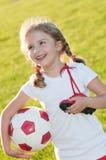gullig spelarefotboll Royaltyfria Bilder