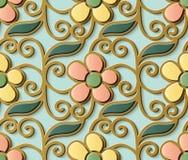 Gullig spiral c för sömlös modell för lättnadsskulpturgarnering retro vektor illustrationer