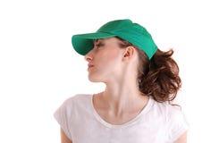 gullig sportkvinna Arkivfoto