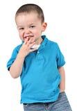 gullig stående för pojke Arkivfoton