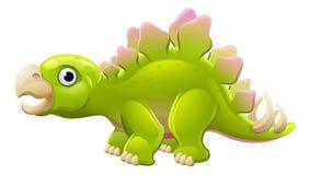 Gullig Stegosaurustecknad filmdinosaurie Royaltyfri Fotografi