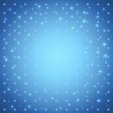 Gullig stjärnabakgrund. Arkivfoto
