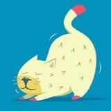 Gullig sträckande kattunge royaltyfri illustrationer
