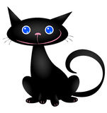 Gullig svart katt Royaltyfria Foton