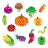 Gullig sydd grönsak Stock Illustrationer