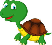 Gullig tecknad film för grön sköldpadda Arkivbild