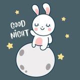 Gullig tecknad film för kaninvektorkanin, barnkammaregarnering vektor illustrationer