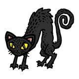 gullig tecknad film för svart katt vektor illustrationer