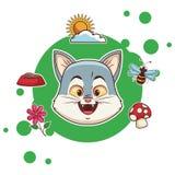 Gullig tecknad film f?r katt stock illustrationer