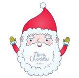 Gullig tecknad film Santa Claus Arkivfoto