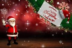 Gullig tecknad film Santa Claus Royaltyfri Fotografi