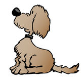 Gullig tecknad filmhundillustration stock illustrationer