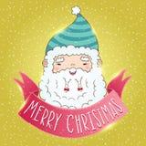 Gullig tecknad filmkines Santa Claus Royaltyfria Bilder