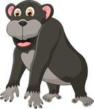 gullig tecknad filmschimpans Royaltyfri Illustrationer