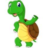 Gullig tecknad filmsköldpadda Royaltyfri Fotografi