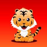 gullig tiger stock illustrationer