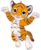 gullig tiger royaltyfri illustrationer