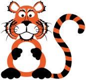 gullig tiger för tecknad film arkivbild