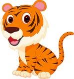 gullig tiger för tecknad film royaltyfri illustrationer