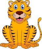 gullig tiger för tecknad film Arkivfoton