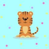 gullig tiger för tecknad film stock illustrationer