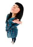 gullig tonårs- flickakyssöverföring Royaltyfri Bild