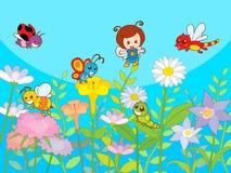 gullig trädgård Royaltyfri Illustrationer