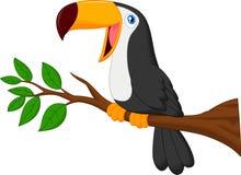 Gullig tukanfågeltecknad film stock illustrationer