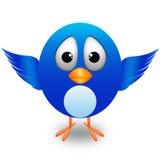 gullig twitter för fågel Fotografering för Bildbyråer