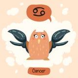 Gullig uggla för horoskop Royaltyfri Bild