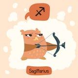 Gullig uggla för horoskop Royaltyfria Bilder