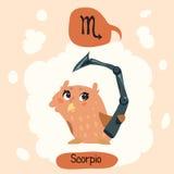 Gullig uggla för horoskop Royaltyfria Foton